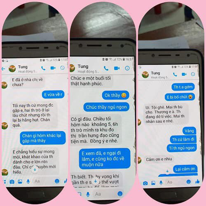 """Nghi án thầy giáo trường chuyên nhắn tin """"gạ tình"""" nữ sinh lớp 10, Sở GD&ĐT Thái Bình yêu cầu làm rõ vụ việc - Ảnh 2."""