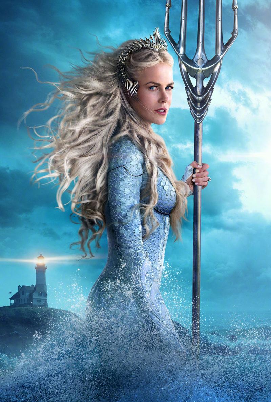 Dù có thời lượng xuất hiện không nhiều thế nhưng Nữ hoàng Atlanna lại một trong những nhân vật gây ấn tượng nhất phim nhờ sở hữu vẻ đẹp ma mị đến nao lòng người.