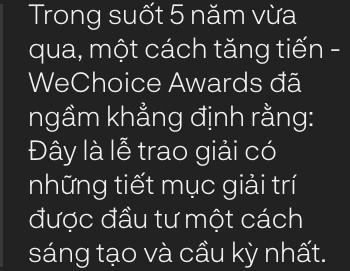 WeChoice Awards: Hành trình đẹp đẽ từ những giấc mơ - Ảnh 11.