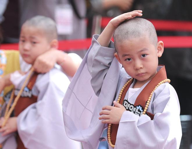 Loạt sắc thái đáng yêu hết nấc của các chú tiểu trong ngày xuống tóc đón lễ Phật Đản ở Hàn Quốc - Ảnh 10.