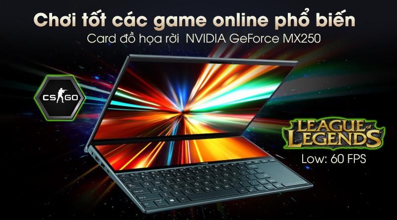 Laptop Asus ZenBook Duo UX481F có card đồ họa rời