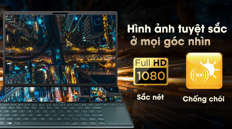 Laptop Asus ZenBook Duo UX481F hiển thị sắc nét