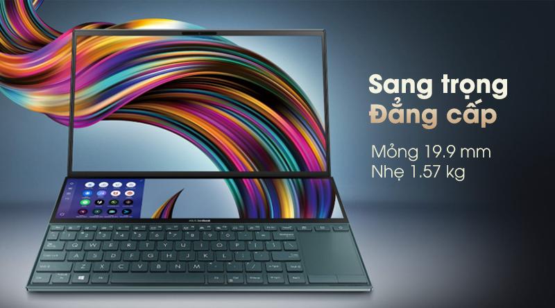 Thiết kế sang trọng của laptop Asus ZenBook Duo UX481F