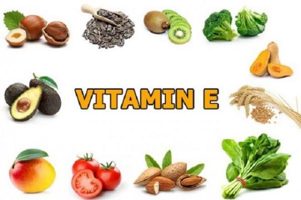 Vitamin E tự nhiên có trong các rau, củ, quả